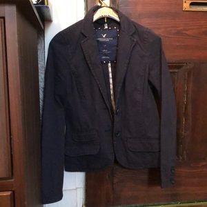 American Eagle navy pinstriped blazer Small